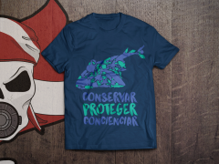 Camiseta en color azul marino