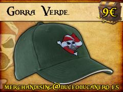 Gorra Buceo Bucanero Verde - 9€